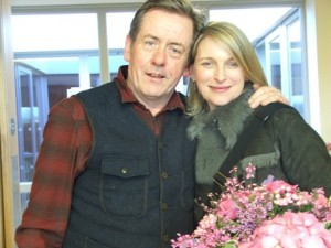 Eimear Quinn who officially opened the Centre and Luka Bloom