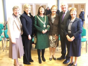 Mayor of County Kildare, Fiona O'Loughlin at the Offical Opening with from left, Phil O'Shea, Ann Riordan, Rita Minehan, Peter Carey, CEO County Kildare and Mary Minehan