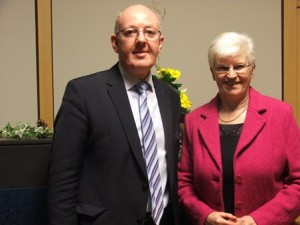 Dominic McEvoy, Director, Kildare Education Centre with Nellie McLoughlin
