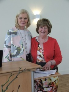 "Brenda Kindregan and Margaret Walsh, Solas Bhride Team, presented ""Awaken the Mystery of Being Present Here"" and ""Unfolding the Legacy of St. Brigid"" during the Feile"