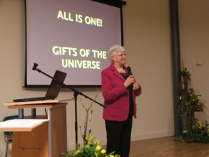 "Nellie McLoughlin rsm, delivers the Annual Celtic Heritage Lecture, ""The Unfolding Universe:  Glimpses into Mystery"""