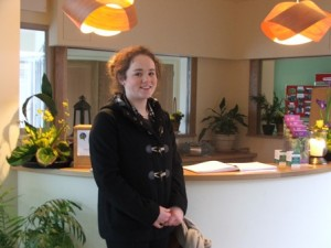 Transition year Student from Newbridge College, Aine Fleming spent part of her work experience at Solas Bhride.