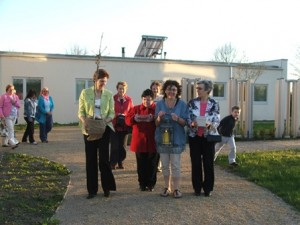 Walking to the planting
