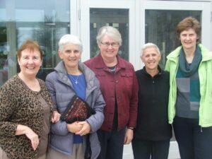 Brigidine Sisters: Mary Minehan, Solas Bhride, Pat Dimick, Melbourne, Maree Marsh, Sydney, Doris Teste, Melbourne, Theresa Kilmurray, Dublin