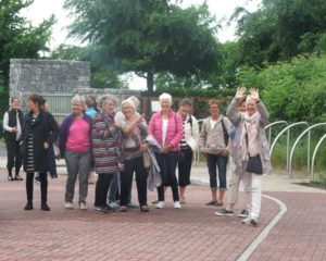 Birgitta Sisters from Losje Kildare, Norway arriving at Solas Bhride