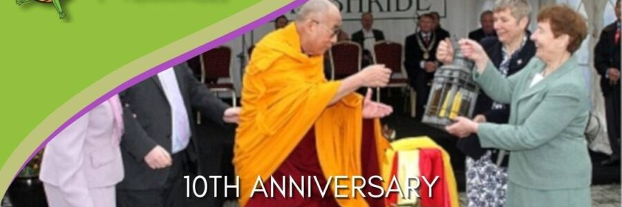 Celebrating the 10th anniversary of the visit of the Dalai Lama